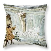 Louis Hennepin (1640-?1701) Throw Pillow