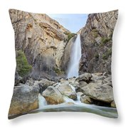 Lower Yosemite Fall In The Famous Yosemite Throw Pillow