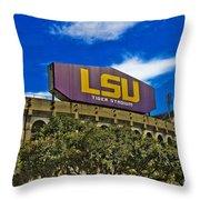 Lsu Tiger Stadium Throw Pillow