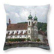 Lucerne Switzerland Throw Pillow