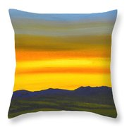 Luminescent Sunrise Throw Pillow