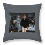 Luncheon In The Studio Throw Pillow