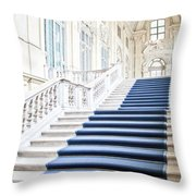 Luxury Interior In Palazzo Madama, Turin, Italy Throw Pillow
