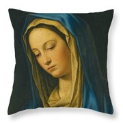 Madonna At Prayer Throw Pillow