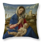 Madonna Of The Meadow Throw Pillow