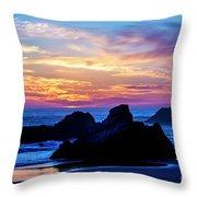 Magical Sunset - Harris Beach - Oregon Throw Pillow