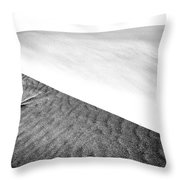 Magnificent Sandy Waves On Dunes At Sunny Day Throw Pillow