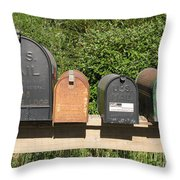 Mail Boxes  Throw Pillow