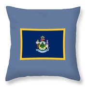 Maine Flag Throw Pillow