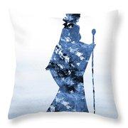 Maleficent-blue Throw Pillow