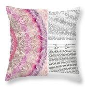 Mandala Ketubah- Ready To Fill Throw Pillow
