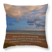 2- Marcus Aurelius Throw Pillow