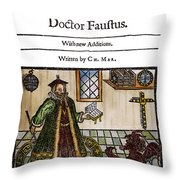 Marlowes Doctor Faustus Throw Pillow