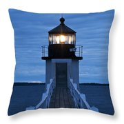 Marshall Point Light Throw Pillow by John Greim