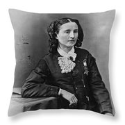Mary Edwards Walker Throw Pillow