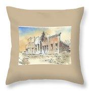 Marysville Ghost Town Montana Throw Pillow