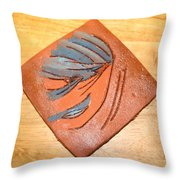 Mask - Tile Throw Pillow