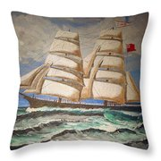 2 Master Tall Ship Throw Pillow