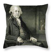 Matthew Boulton, English Manufacturer Throw Pillow
