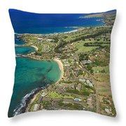 Maui Aerial Of Kapalua Throw Pillow
