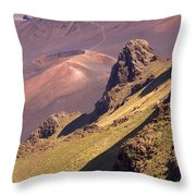 Maui, Haleakala Crater Throw Pillow