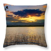 Mcintosh Lake Sunset Throw Pillow