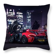 Mclaren P1 Gtr In London Throw Pillow