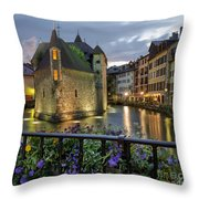 Medieval Jail In Annecy Throw Pillow