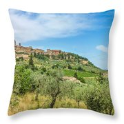 Medieval Town Of San Gimignano, Tuscany, Italy Throw Pillow