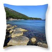 Mediterranean Seascape  Throw Pillow