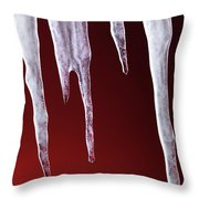 Melting Icicles Throw Pillow