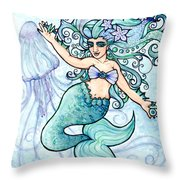 Mermaid Belly Dancer Throw Pillow
