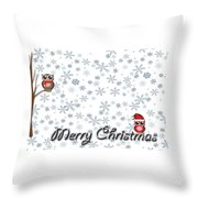 Christmas Card 8 Throw Pillow