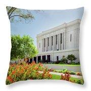 Mesa Temple Sun Glow Throw Pillow