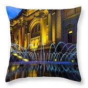Metropolitan Museum Of Art Throw Pillow