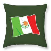 Mexico Flag Throw Pillow