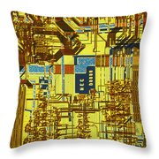 Microprocessor Throw Pillow