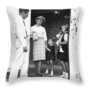 Milkman Home Delivery Throw Pillow