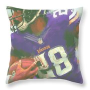 Minnesota Vikings Adrian Peterson Throw Pillow