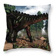 Miragaia Dinosaur - 3d Render Throw Pillow