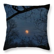 Misty Moonrise Throw Pillow