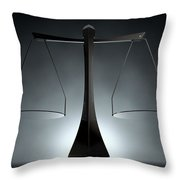 Modern Scales Of Justice Throw Pillow