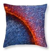 Molten Pahoehoe Lava Throw Pillow