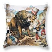Monroe Doctrine: Cartoon Throw Pillow
