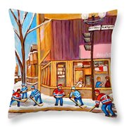 Montreal Paintings Throw Pillow