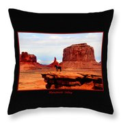 Monument Valley II Throw Pillow