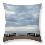 Morning View From Kingsdown Throw Pillow