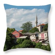 Mostar, Bosnia And Herzegovina Throw Pillow