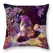 Mountain Marmot Wildlife Animals  Throw Pillow