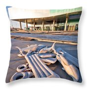 Museum Of Contemporary Art In Zagreb Exterior  Throw Pillow